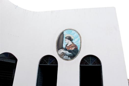 Paróquia Santa Cecília com aerografia produzida por Léo | foto Marcelo Barbalho