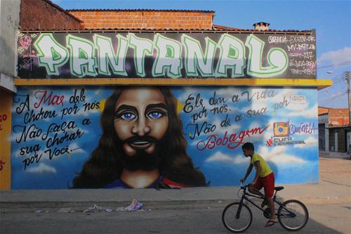 Grafite no Planalto Ayrton Senna, antigo Pantanal III | foto Marcelo Barbalho