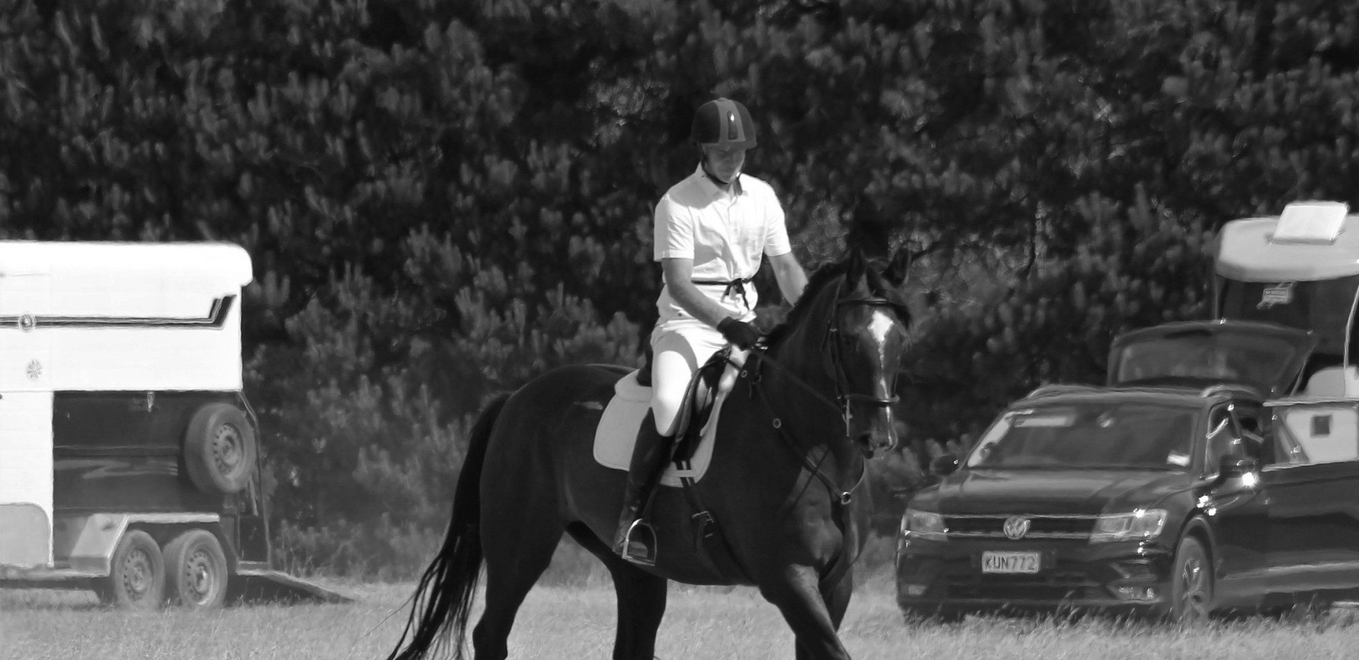 Van - first dressage competition