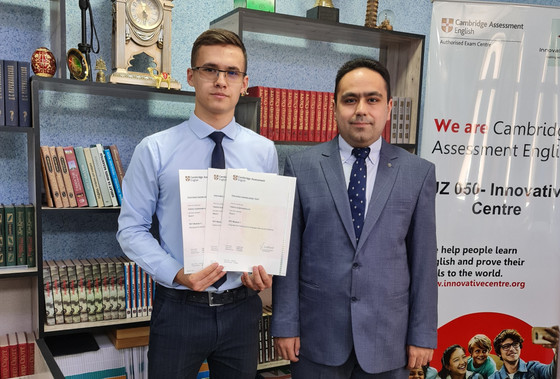 17-year-old Parviz receives internationally-recognized TEFL certificate from Cambridge English
