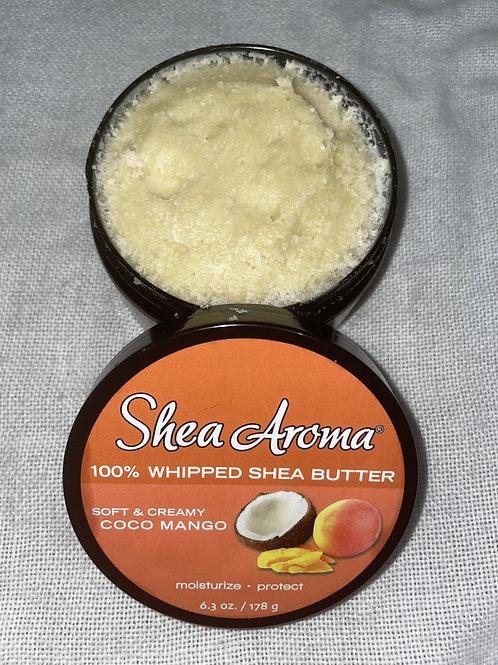 SHEA AROMA: 100% PURE NATURAL WHIPPED SHEA BUTTER: COCO MANGO