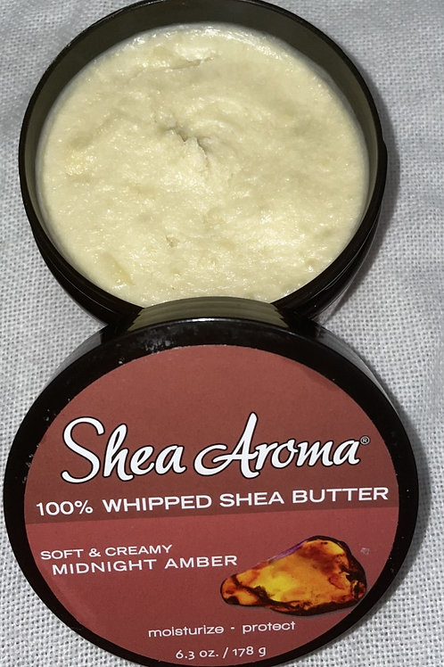 SHEA AROMA: 100% PURE WHIPPED SHEA BUTTER: MIDNIGHT AMBER