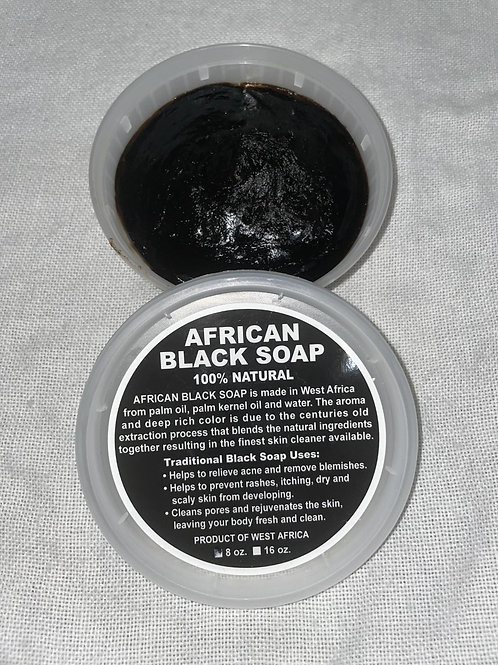 Pure African Black Soap 8oz