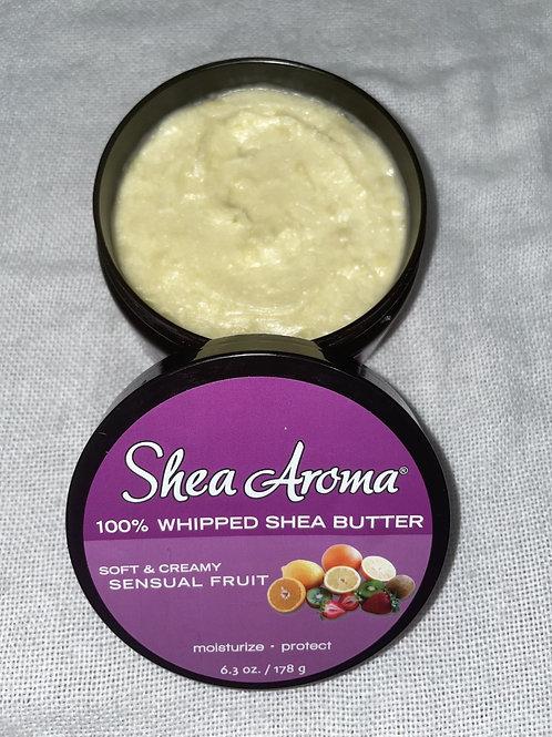 SHEA AROMA: 100% PURE NATURAL WHIPPED SHEA BUTTER: SENSUAL FRUIT