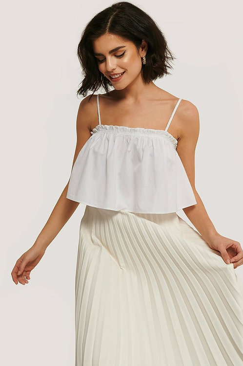 Cropped Frill Detail Top