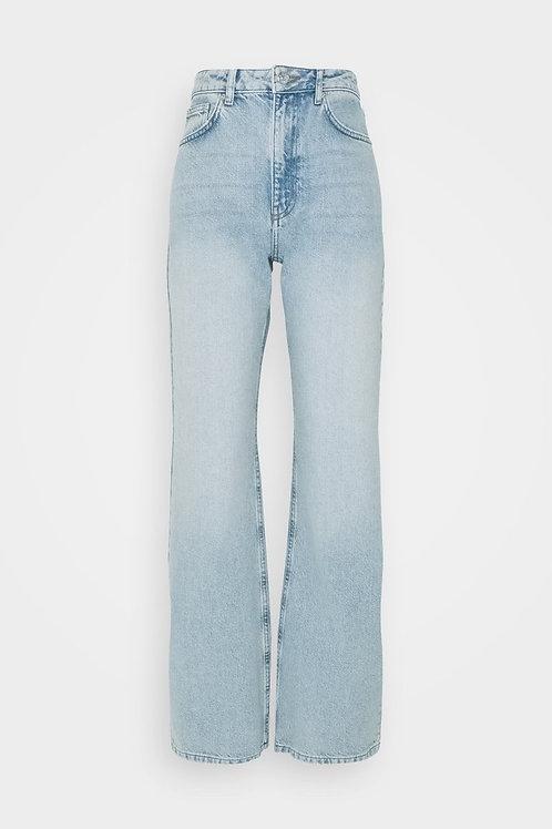 Relaxed Full Length Jeans-Light Blue