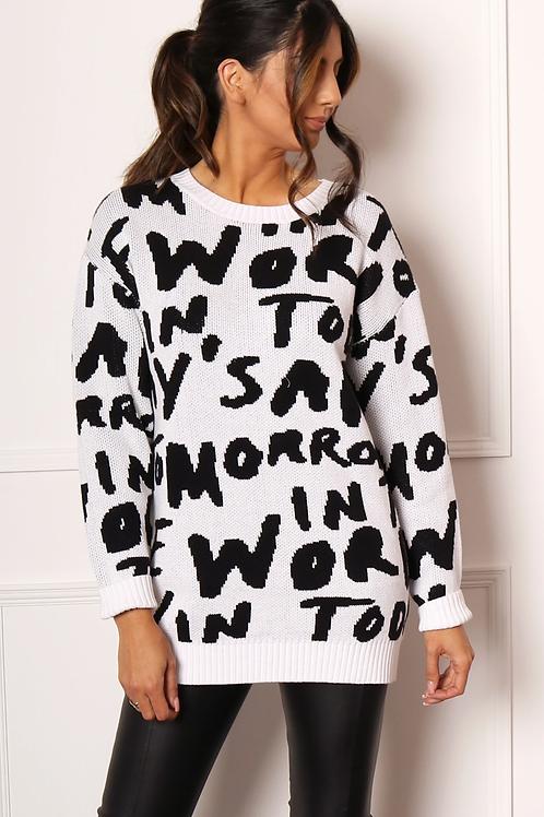 Text Antarsia Sweater