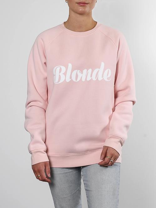 Blonde Cursive Classic Crew Neck