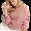 Thumbnail: Crew Neck Volume Sleeve Knit Sweater