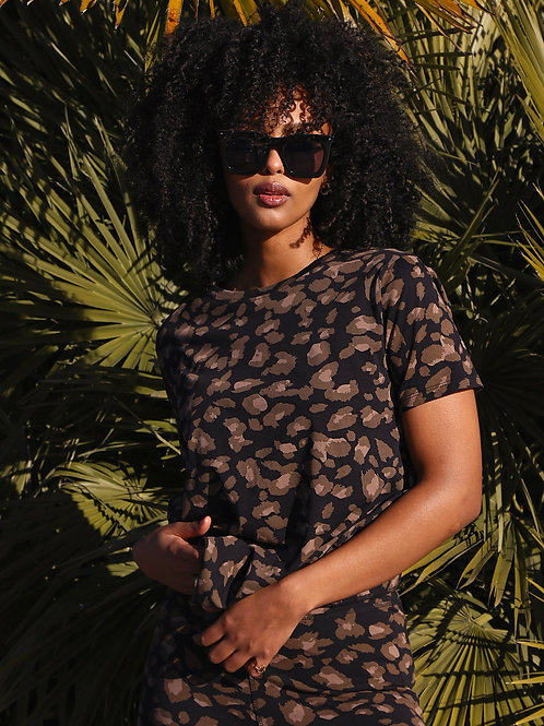 The Leopard Boxy Tee