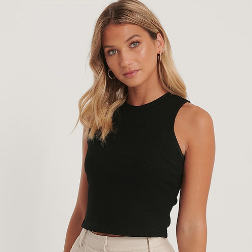 Ribbed Jersey Top