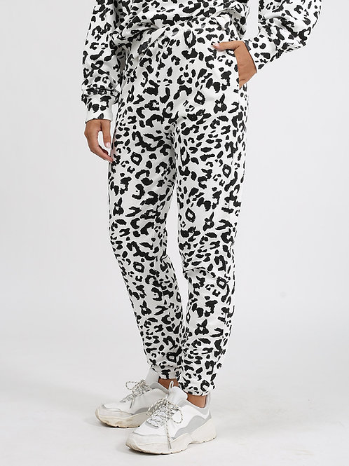 Best Friend High Waisted Jogger-Snow Leopard
