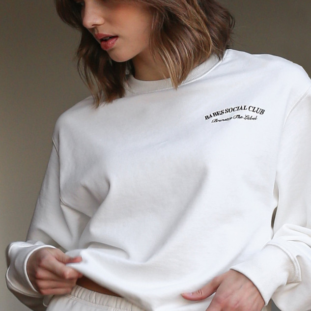 Brunette The Label Crew Neck-Cream