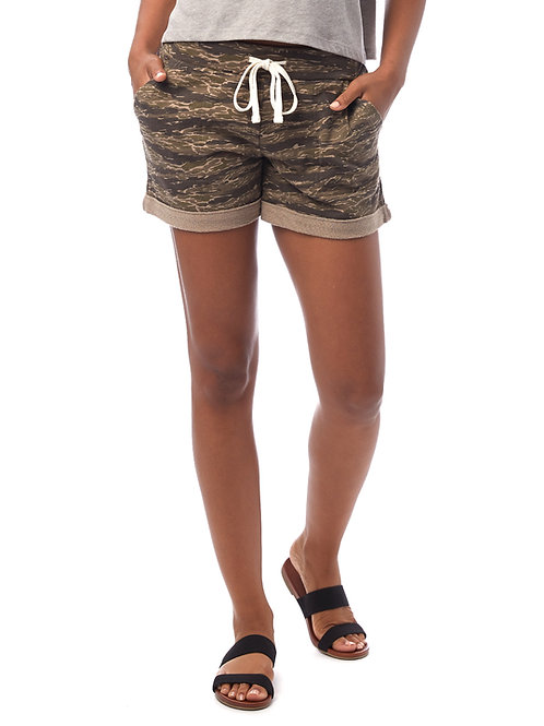Camo lightweight French Terry Shorts
