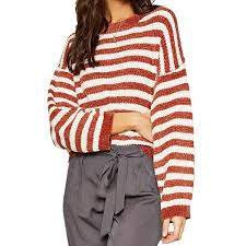 Ione Stripe Sweater-Spice