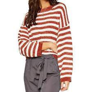 Ione Stripped Sweater-Spice