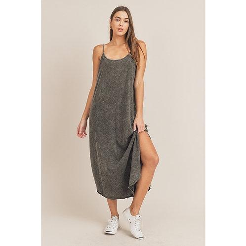 Nightfall Maxi Dress-Washed Black