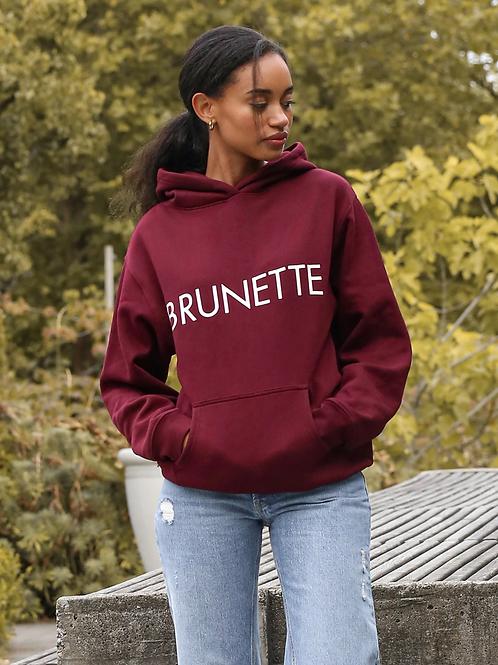 Burgandy Hoodie-Brunette