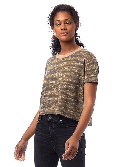 Headliner Camo Eco-jersy Cropped T-shirt