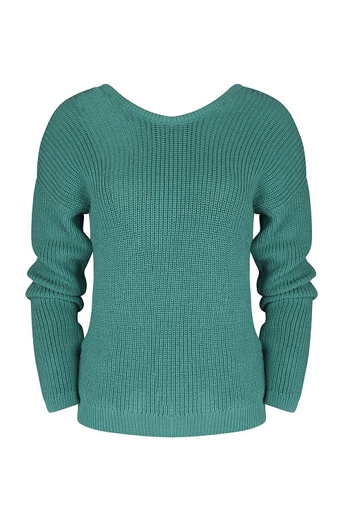 Knitted Deep V Sweater