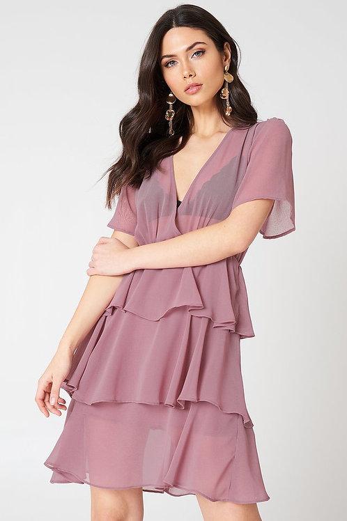 Flounce Triple Layer Dress