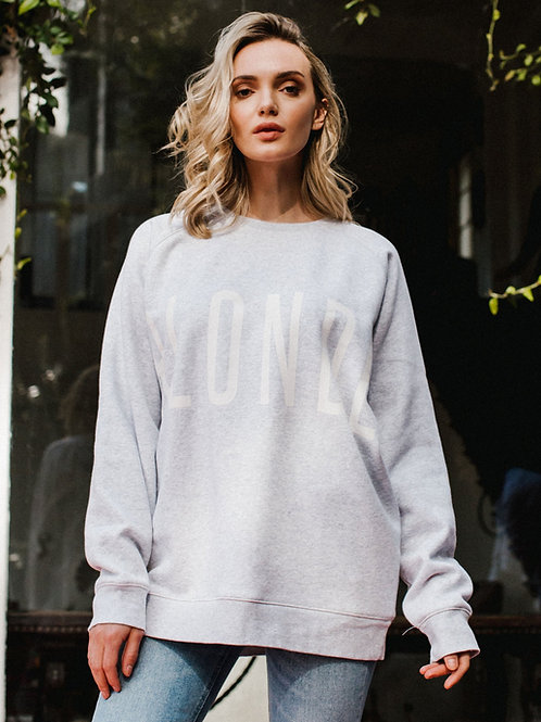 Blonde Big Sister Crew Neck Sweater