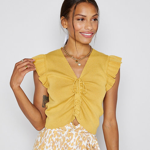 Playa Ruffle Knit Top