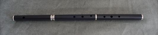 flauta irlandesa pvc con aros de plata