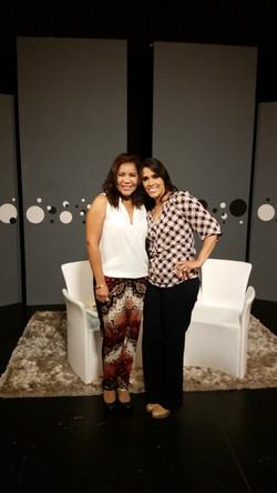 Glenda Travieso con Nathaly Salas G.