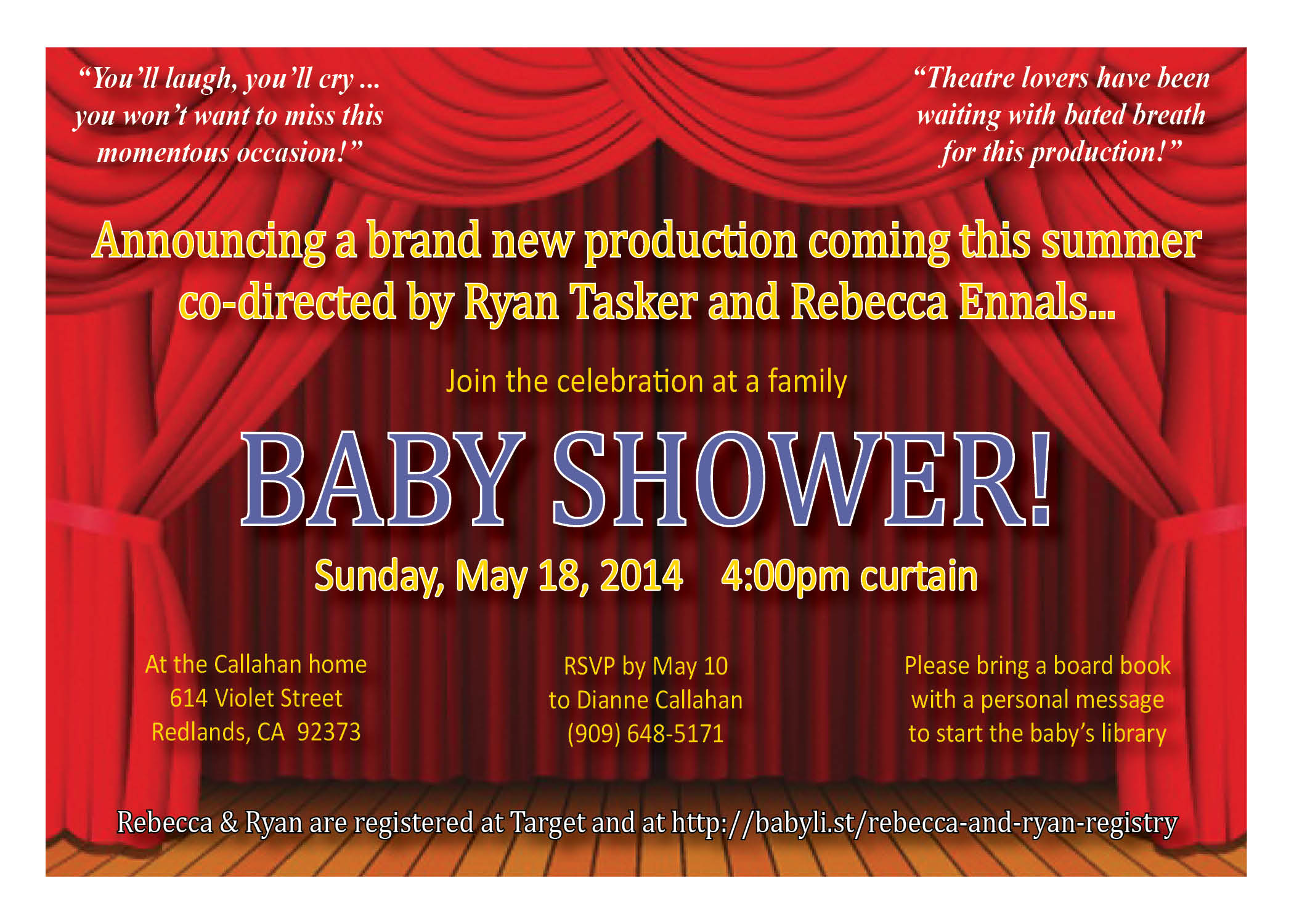 Ryan & Rebecca Baby Shower Invite