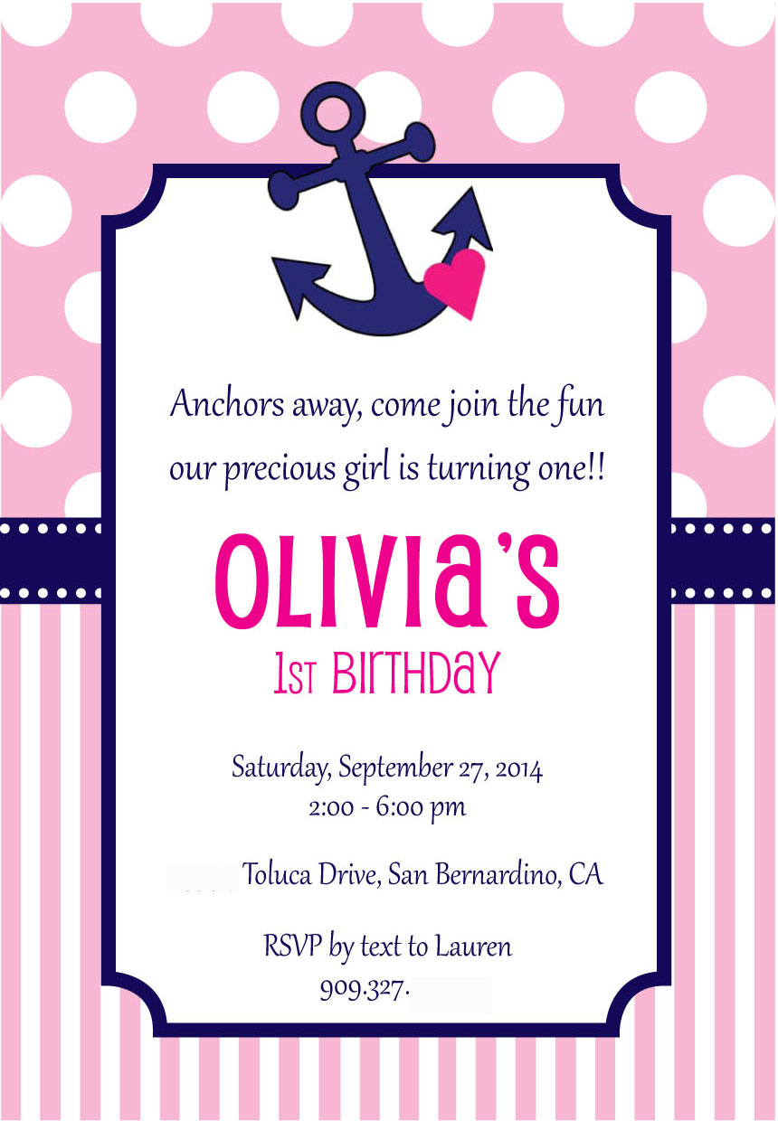 Olivia's 1st Birthday Invitation!