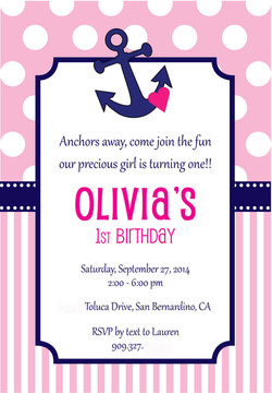 Olivia's 1st Birthday Invitation!
