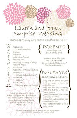 FINAL FINAL Lauren wedding program