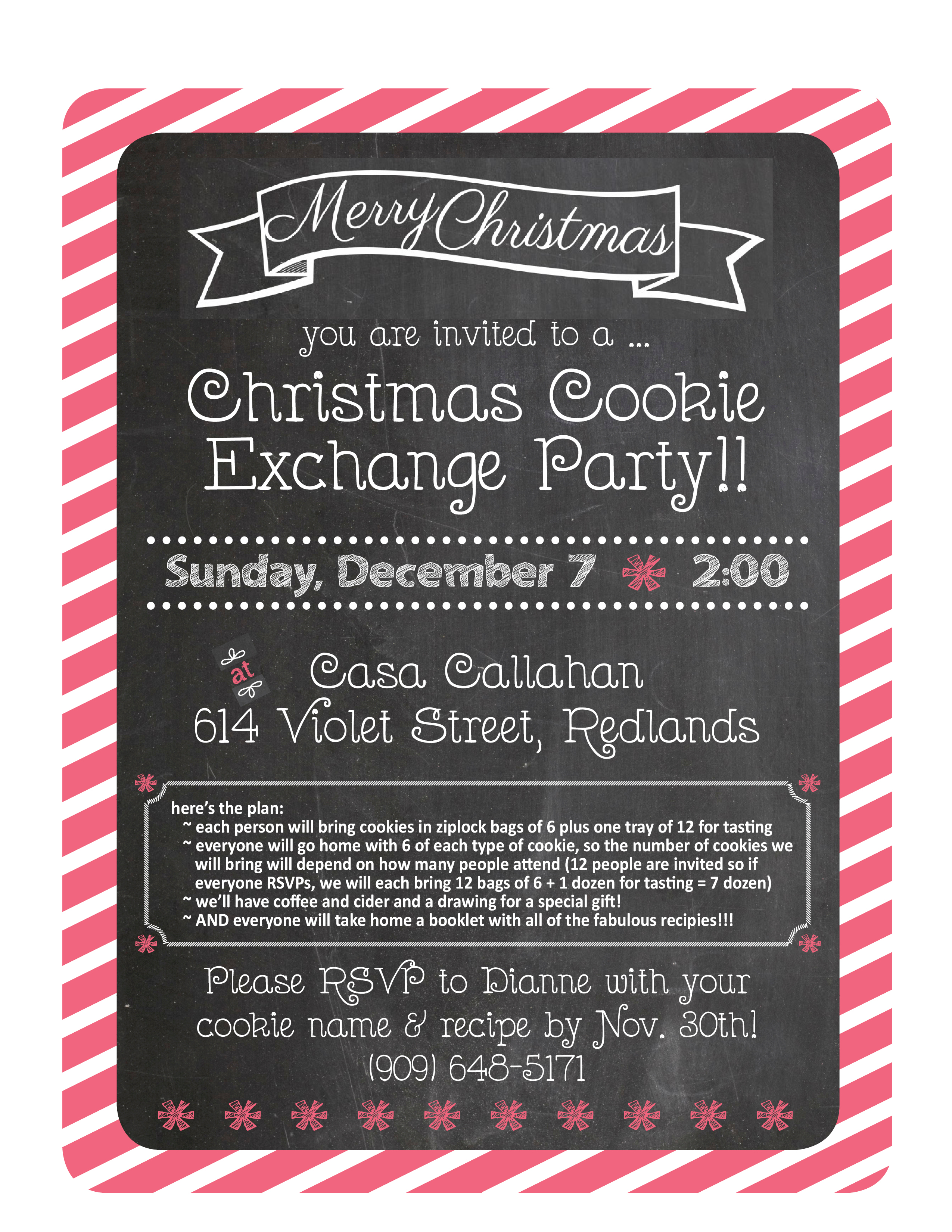 Cookie Exchange Invitation