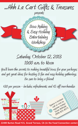 Holiday class flyer - large