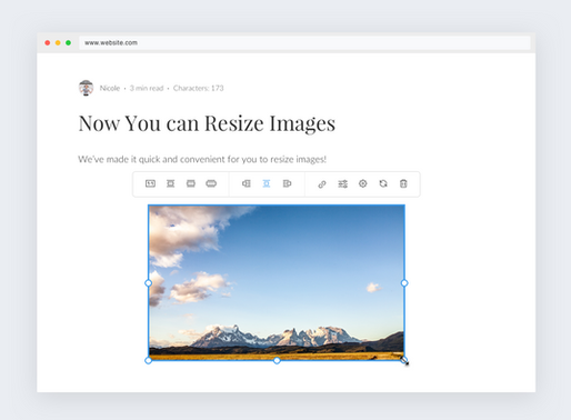 Now You Can Resize, Edit and Enhance Images!
