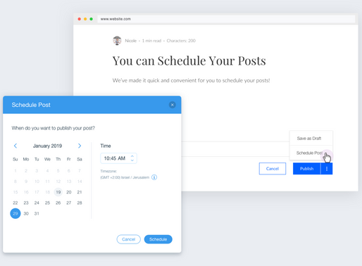 Now You Can Schedule Posts!