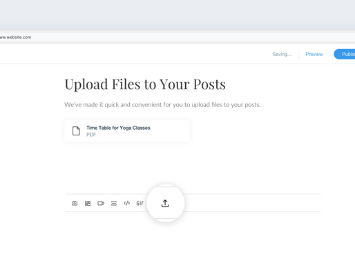 Now you can upload files to your posts