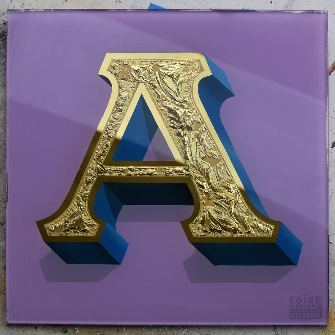 letter A glass gilding sample.jpg