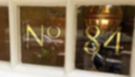 House numbering #23ctgold #goldleaf #rev