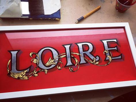 signwriter loire designs - Reverse glass