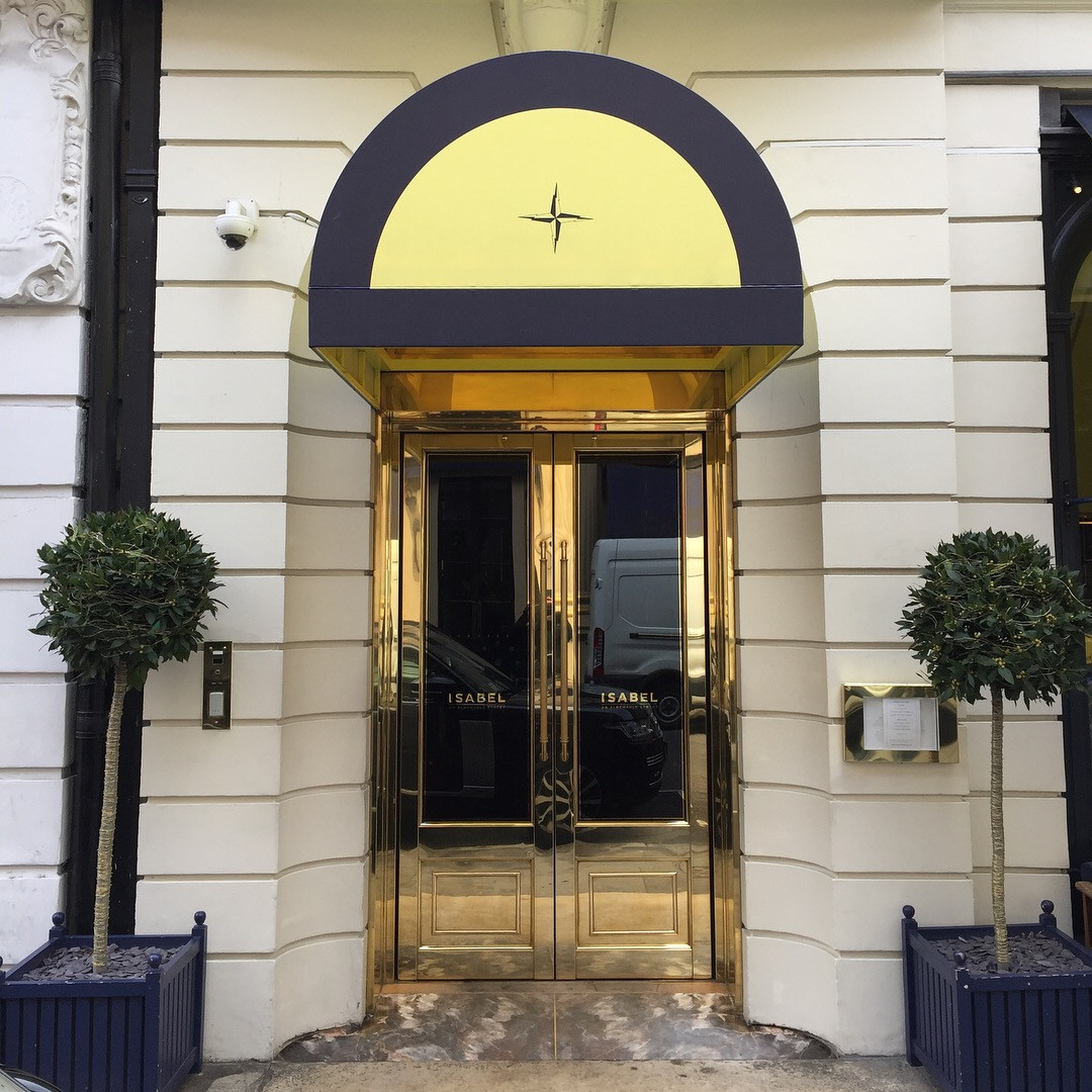 Gold leaf sign on gold door.JPG