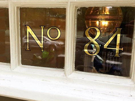 House numbering #23ctgold