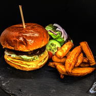 Burger with Red Onion Chutney