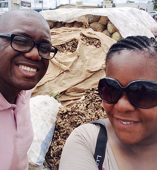 Franck and Lucia on the Ivory Coast