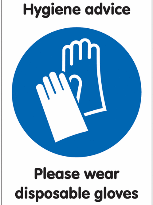 ws25229 - Please Wear Disposable Gloves