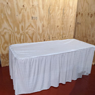 Serving tables and skirts for hire