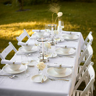 Crockery and glassware for hire