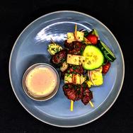 Beef & Haloumi Kebabs