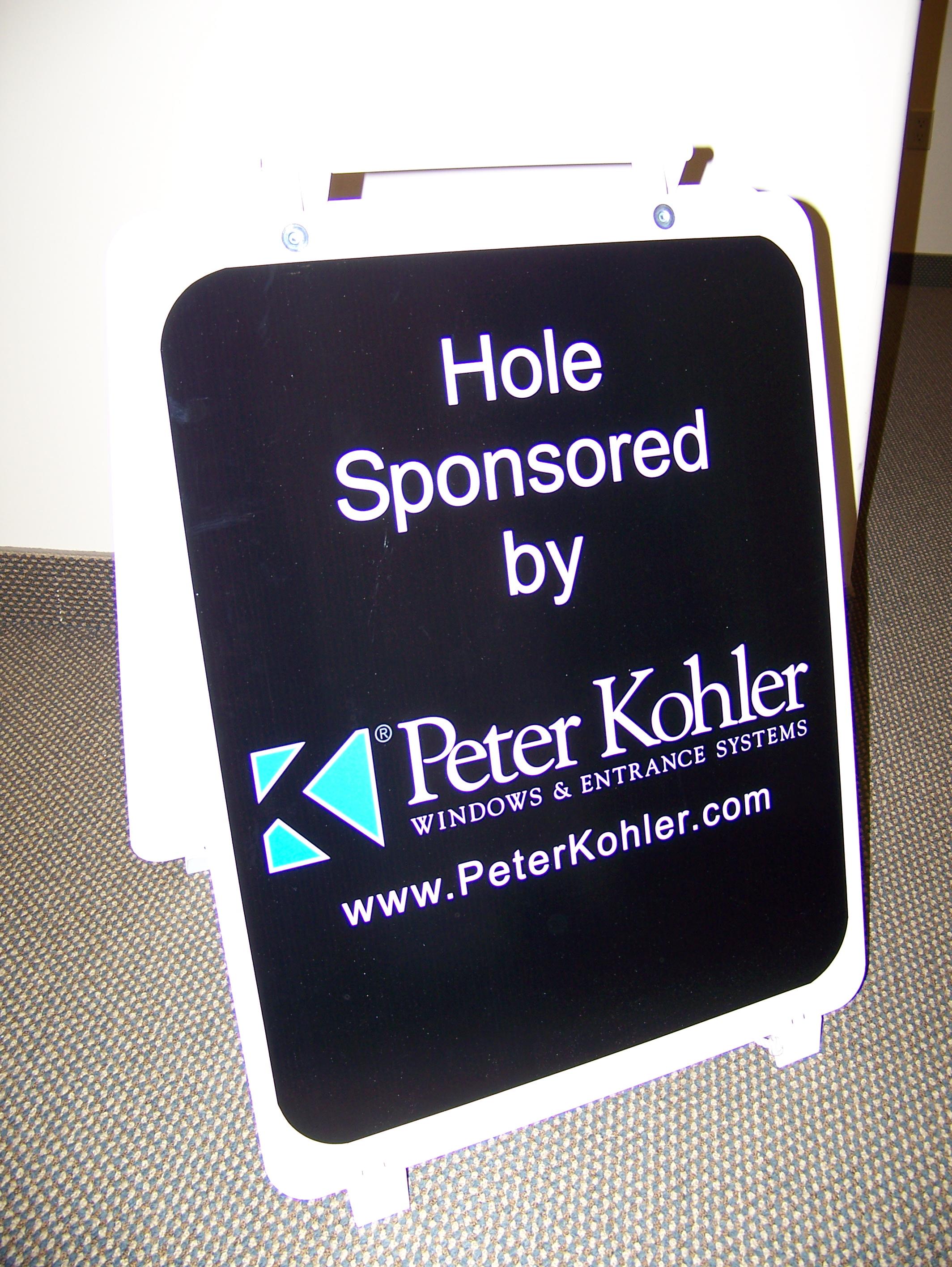 Golf Hole Sponsor Sign